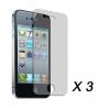 Прозрачная защитная пленка для Apple iPhone 4 (3 шт.) #00217403
