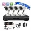 4-канальная система безопасности CCTV DVR Kit (4 водонепроницаемых 600TVL цветных камер) #00782719